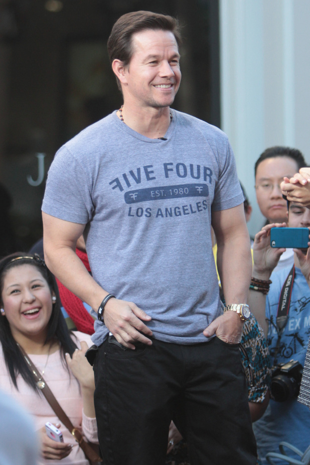 Mark Wahlberg filming in Los Angeles.