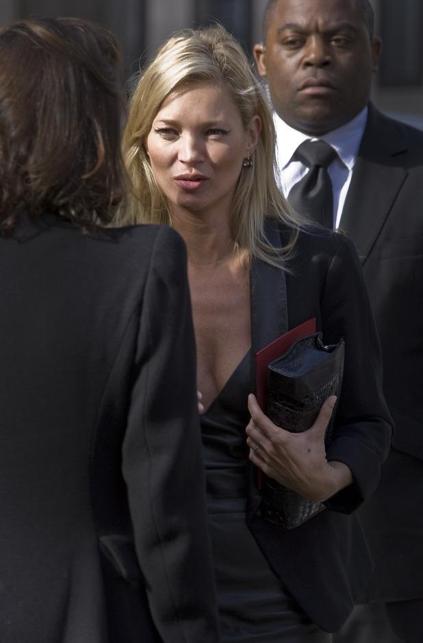 Kate Moss, Alexander McQueen funeral