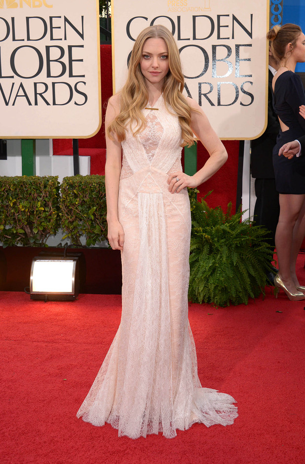 Amanda Seyfried arriving at the 70th Annual Golden Globe Awards 2013 in Los Angeles
