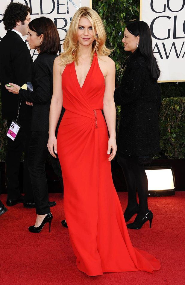 Claire Danes arriving at the 70th Annual Golden Globe Awards 2013 in Los Angeles
