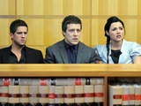 Heath, Brax and Sasha support Casey during his court case.