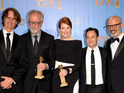 HBO political drama scoops two prizes, including acting award for Julianne Moore.