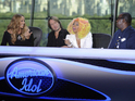 The return of American Idol is lower than last year but still easily wins.