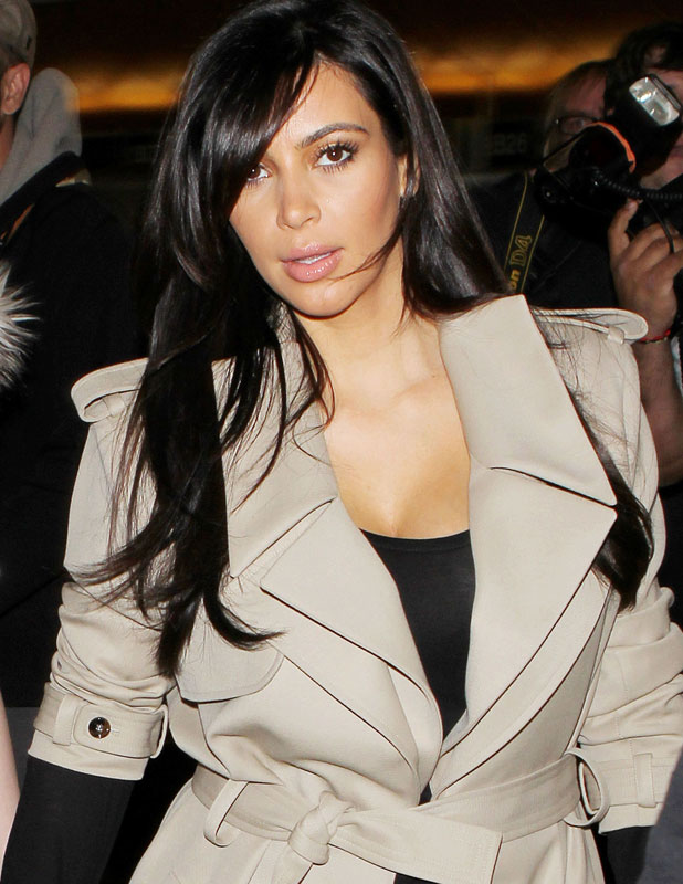 Kim Kardashian at airport