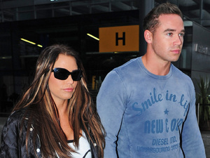 Katie Price and new husband Kieran Hayler arrive at Heathrow airport after flying back from their honeymoonFeaturing: Katie Price aka Jordan,Kieran Hayler