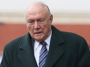 Stuart Hall leaves Preston Magistrates Court today after pleading not guilty to the sexual abuse of young girls. Picture date: Monday January 7, 2013.