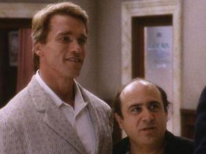 Arnold Schwarzenegger and Danny DeVito in 'Twins'