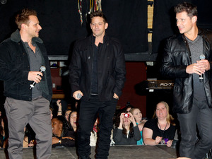 "98 Degrees announce ""The Package Tour"" at Irving Plaza"