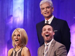 Dancing on Ice: Philip Schofield, Ashley Roberts and Jason Gardiner.