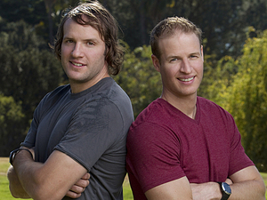 The Amazing Race Season 22 cast: Hockey brothers Bates (left) and Anthony Battaglia
