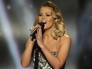 Kimberley Walsh performs live during the 2013 National Television Awards at the O2 Arena, London.