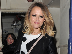 Kimberley Walsh is seen leaving the Theatre Royal, having watched a performance of 'Shrek: The Musical' in which she used to star.