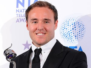 Alan Halsall with his award for Best Serial Drama Performance, in the press room at the 2013 National Television Awards at the O2 Arena, London.
