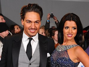 Lucy Mecklenburgh and Mario Falcone arriving for the 2013 National Television Awards at the O2 Arena, London.