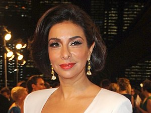 Shobna Gulati arriving for the 2013 National Television Awards at the O2 Arena, London.