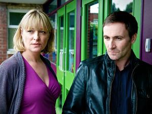 Laurie Brett and Derek Riddell in Waterloo Road