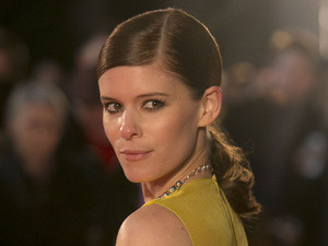 Kate Mara arrives on the red carpet for the UK Premiere of 'House of Cards' at a Leicester Square cinema in London, Thursday, Jan. 17, 2013.