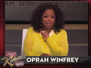 Matt Damon hijacks Jimmy Kimmel show with Oprah