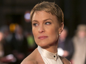 Robin Wright arrives on the red carpet for the UK Premiere of &#39;House of Cards&#39; at a Leicester Square cinema in London, Thursday, Jan. 17, 2013. 