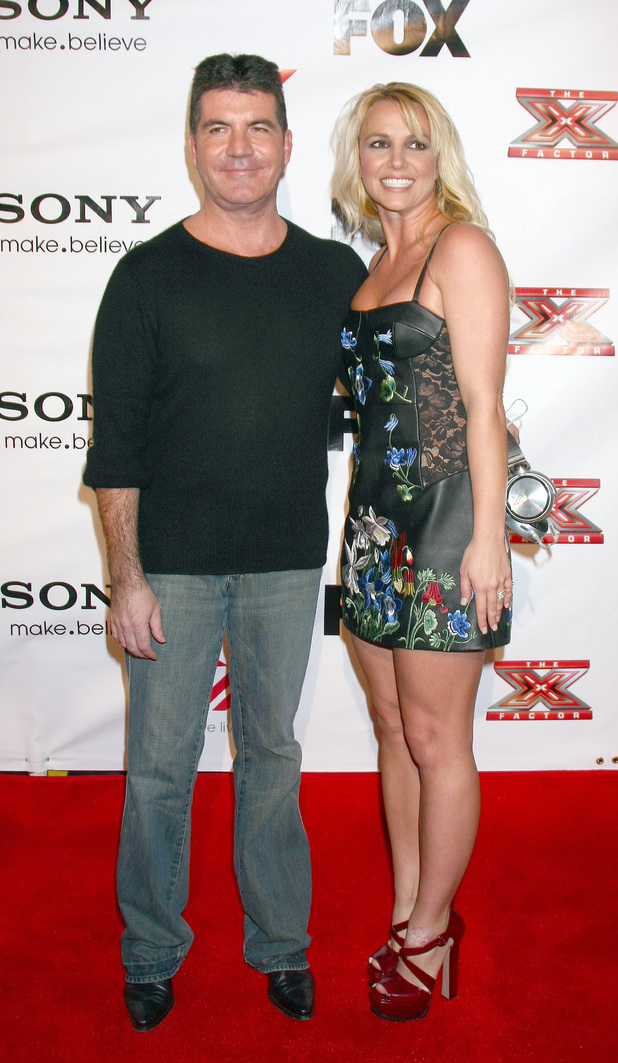 Simon Cowell, Britney Spears, X Factor 2012 Final Four Party at Rodeo Drive