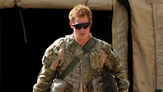 Previously unissued picture dated 03/11/2012 of Prince Harry or just plain Captain Wales as he is known in the British Army, at the British controlled flight-line in Camp Bastion southern Afghanistan, where he is serving as an Apache Helicopter Pilot/Gunner with 662 Sqd Army Air Corps, from September 2012 for four months until January 2013. Issue date: Monday January 21, 2013. See PA story DEFENCE Harry. Photo credit should read: John Stillwell/PA Wire