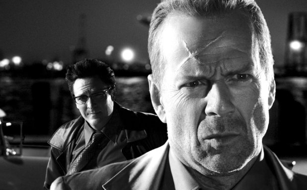Michael Madsen and Bruce Willis in 'Sin City'