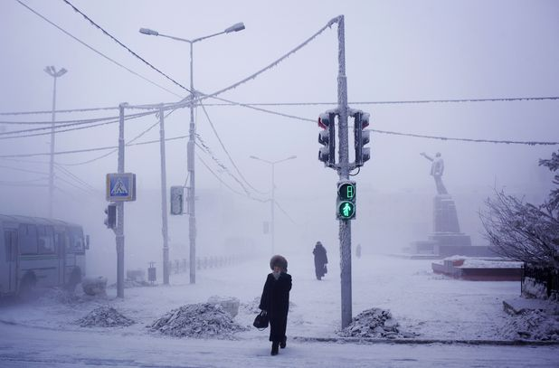 Conditions in village of Oymyakon
