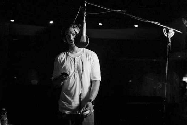 Justin Timberlake in the recording studio.