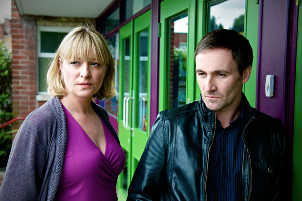 Laurie Brett and Derek Riddell in Waterloo Road