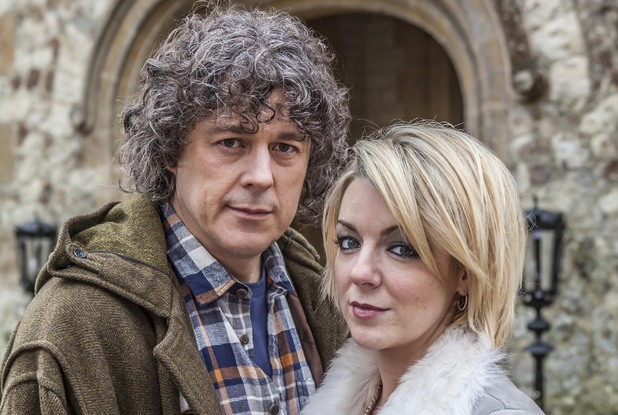 Alan Davies and Sheridan Smith in Jonathan Creek:  The Clue of the Savant's Thumb