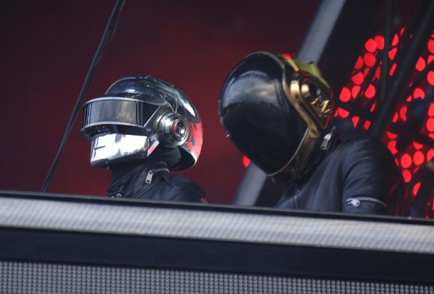 Daft Punk perform on stage at the O2 Wireless Festival at Hyde Park, London - June 2007