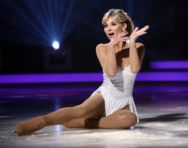 Anthea Turner on school disco night on Dancing On Ice