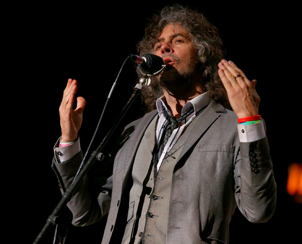 Wayne Coyne of The Flaming Lips performs at the Bridge School Benefit Concert at the Shoreline Amphitheatre on Saturday, Oct. 20, 2012, in Mountain View, Calif.