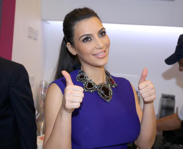 Kim Kardashian promotes her signature milkshake during a Millions of Milkshakes event in Bahrain Manama, Bahrain - 02.12.12 Mandatory Credit: WENN.com