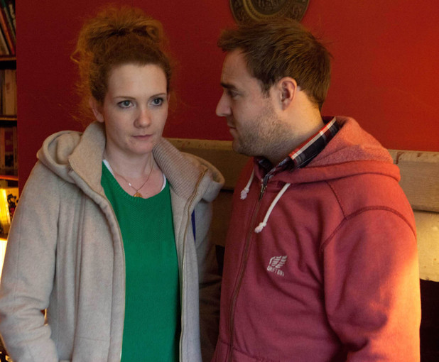 Fiz and Tyrone in Coronation Street