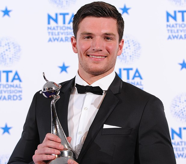 David Witts with his Best Newcomer Award in the press room at the 2013 National Television Awards at the O2 Arena, London.