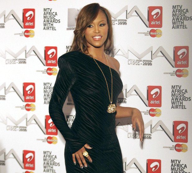 Eve arrive for the MTV Africa Music Awards Red Carpet in Lagos, Nigeria, Saturday, Dec. 11, 2010.
