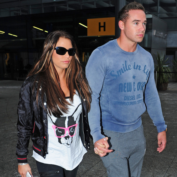 Katie Price and new husband Kieran Hayler arrive at Heathrow airport after flying back from their honeymoonFeaturing: Katie Price aka Jordan,Kieran Hayler Where: London, Heathrow, England When: 20 Jan 2013 Credit: WENN.com
