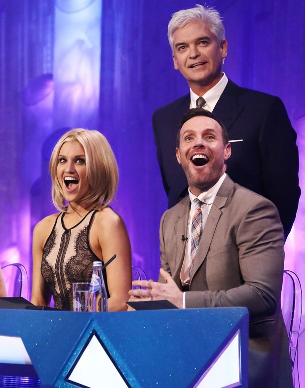 Philip Schofield, Ashley Roberts and Jason Gardiner.
