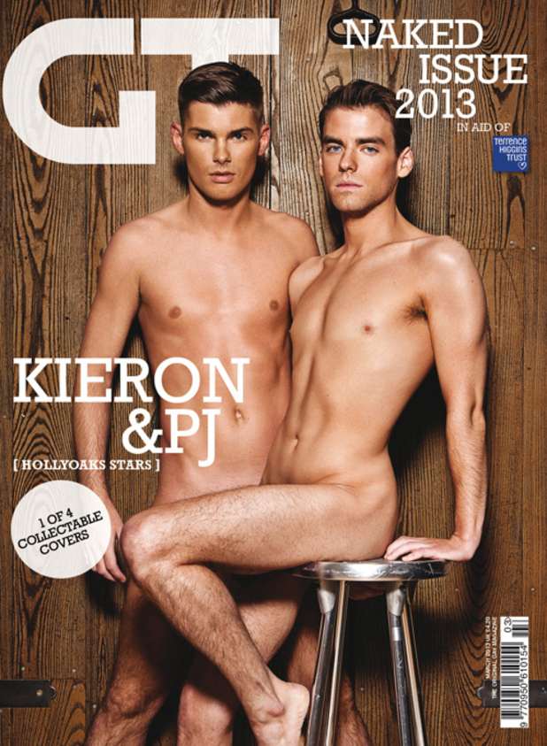 Gay Times Naked Issue 2013 - Kieran Richardson and PJ Brennan