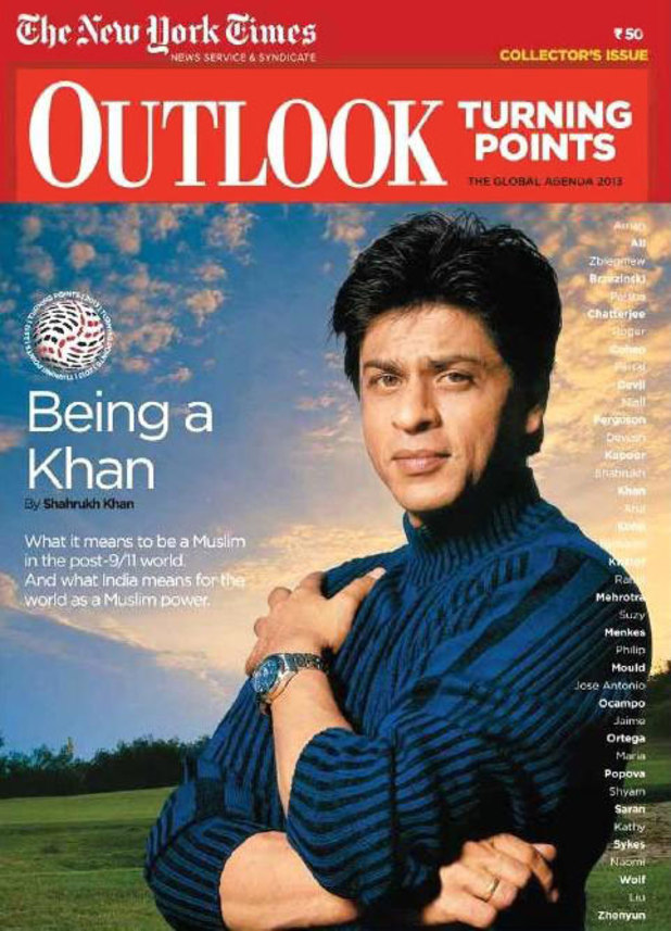 Shah Rukh Khan on the cover of Outlook Turning Points magazine