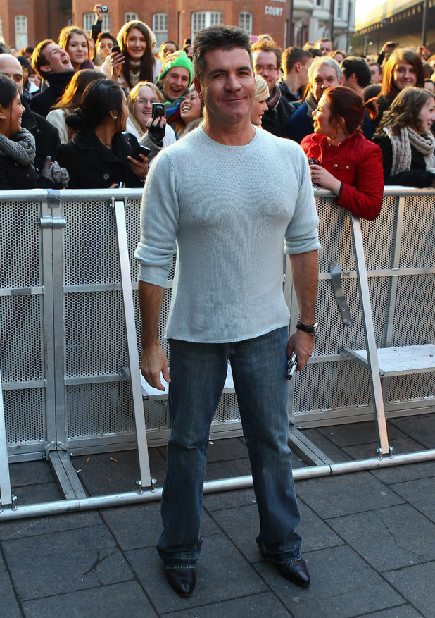 Simon Cowell Judges arriving at the 'Britian's Got Talent' auditions London, England - 07.02.12