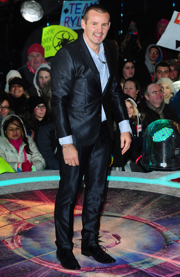 Ryan Moloney leaves Celebrity Big Brother, filmed at the Elstree Studios in London.