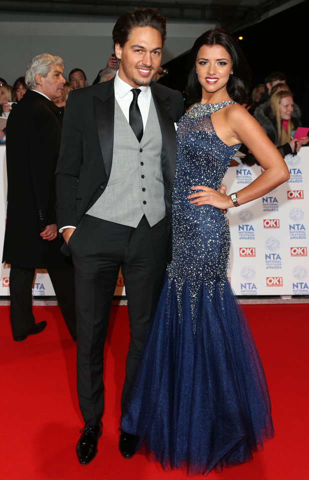 National Television Awards 2013 held at the O2 arena - ArrivalsFeaturing: Mario Falcone,Lucy Mecklenburgh Where: London, United Kingdom When: 23 Jan 2013 Credit: Lia Toby/WENN.com
