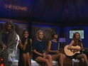 The girl group perform a stripped-down rendition on US television.