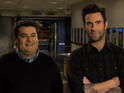 Adam Levine also counsels Bobby Moynihan of the righteousness of sobriety.