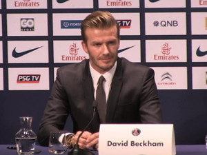 David Beckham Paris Saint-Germain Press Conference