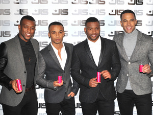 JLS fragrance launch held at One MayfairFeaturing: Aston Merrygold,Marvin Humes,JB Gill,Orits Williams