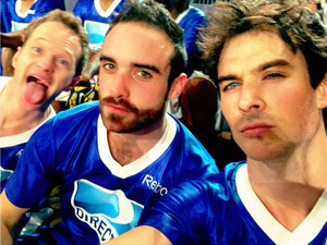 Ian Somerhalder photobombed by Neil Patrick Harris