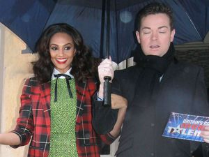 'Britain's Got Talent' judges arrive at the auditions held at Clyde Auditorium: Alesha Dixon and Stephen Mulhern